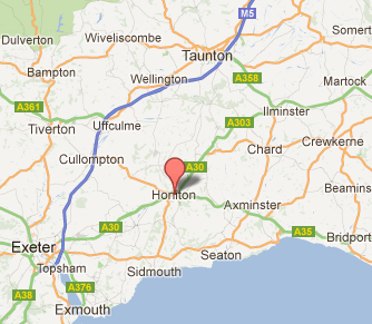We are located in Honiton, East Devon, UK